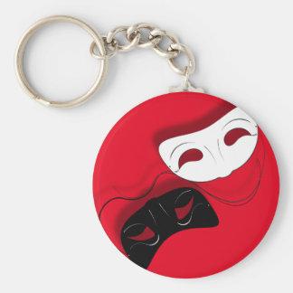Porte-clés Le théâtre masque le porte - clé