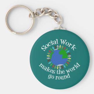 Porte-clés Le travail social fait le monde tourner