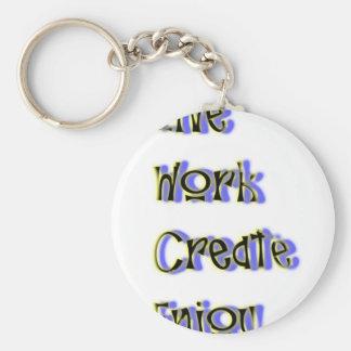 Porte-clés le travail vivant créent apprécient