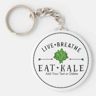 Porte-clés Le végétarien de chou frisé vivant respirent