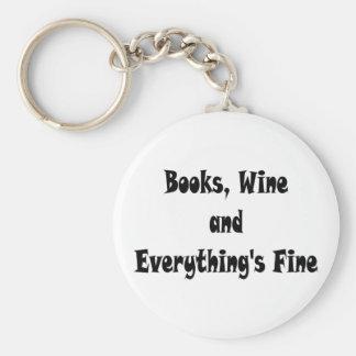 Porte-clés Le vin de livres tout est porte - clé fin