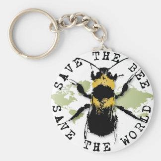 Porte-clés Le yoga parlent : Sauvez le porte - clé d'abeille…