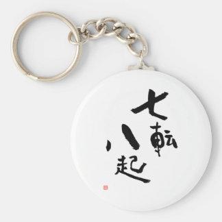 Porte-clés L'énonciation japonaise tombent vers le bas sept