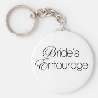 Porte-clés L'entourage de la jeune mariée