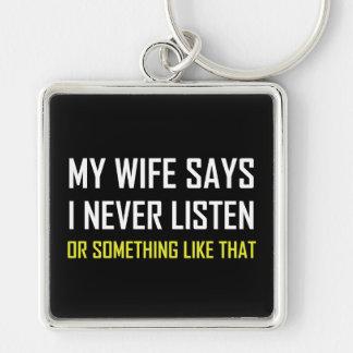 Porte-clés L'épouse dit n'écoutent jamais