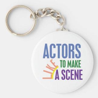 Porte-clés Les acteurs aiment faire une scène
