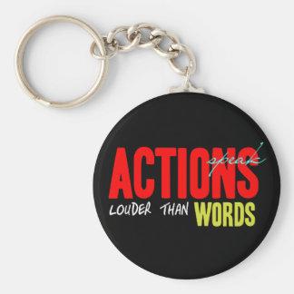 Porte-clés Les actions parlent plus fort