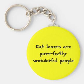 Porte-clés Les amoureux de les chats sont les personnes