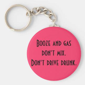 Porte-clés Les boissons alcoolisées et le gaz ne se mélangent
