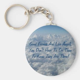Porte-clés Les bons amis sont comme des anges