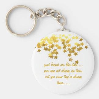 Porte-clés les bons amis sont comme le porte - clé d'étoiles