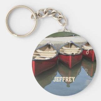 Porte-clés Les canoës rouges ont personnalisé le porte - clé