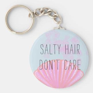 Porte-clés Les cheveux salés ne s'inquiètent pas - la sirène