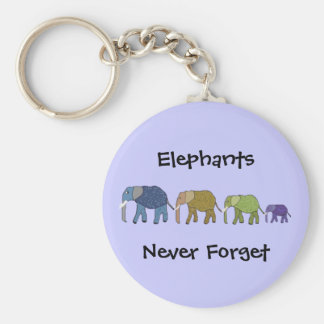Porte-clés Les éléphants n'oublient jamais le porte - clé