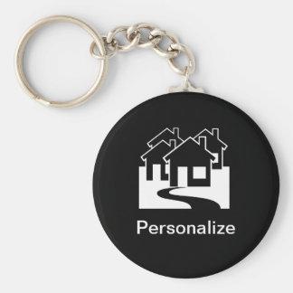 Porte-clés Les immobiliers personnalisables logent le porte -