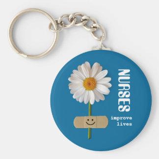 Porte-clés Les infirmières améliorent les vies. Porte - clé