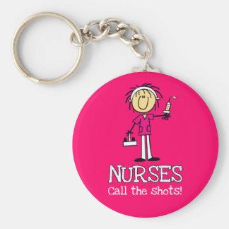 Porte-clés Les infirmières appellent les tirs ! Porte - clé