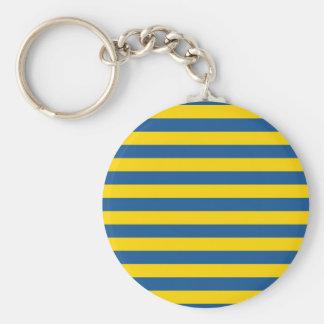 Porte-clés Les lignes de rayures de drapeau de la Suède