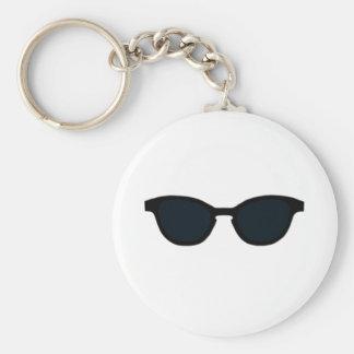 Porte-clés Les lunettes de soleil noircissent le jGibney noir