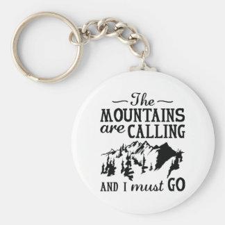 Porte-clés Les montagnes appellent