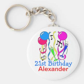 Porte-clés Les Partie-Ballons 21ème d'anniversaire le
