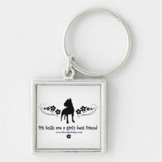 Porte-clés Les pitbulls sont le porte - clé du meilleur ami