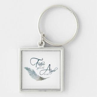 Porte-clés Les plumes apparaissent quand les anges sont près