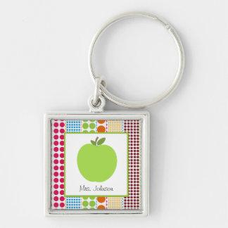 Porte-clés Les points multicolores Apple vert ont