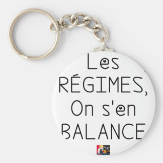 Porte-clés Les RÉGIMES on s'en BALANCE - Jeux de Mots