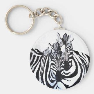 Porte-clés Les zèbres (acryliques par art de Kimberly