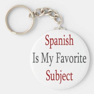 Porte-clés L'Espagnol est mon sujet préféré