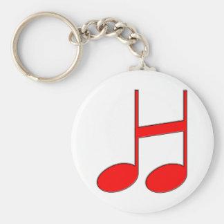 """Porte-clés Lettre anglaise """"H"""" créée des notes musicales"""