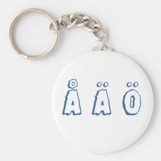Porte-clés Lettres suédoises (ö d'ä de å)