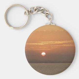 Porte-clés Lever de soleil au-dessus de paysage marin d'Aruba