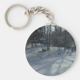 Porte-clés Lever de soleil d'hiver