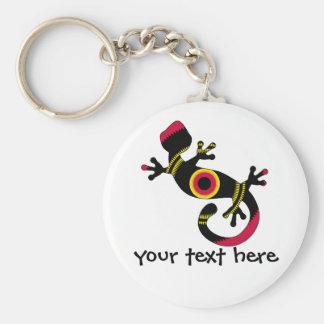 Porte-clés Lézard coloré de Gecko d'amusement