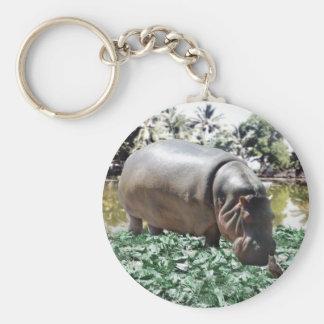 Porte-clés L'hippopotame et l'oiseau