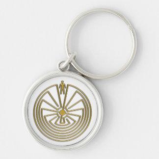 Porte-clés L'homme dans le labyrinthe - or