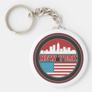 Porte-clés L'horizon | Etats-Unis de New York diminuent