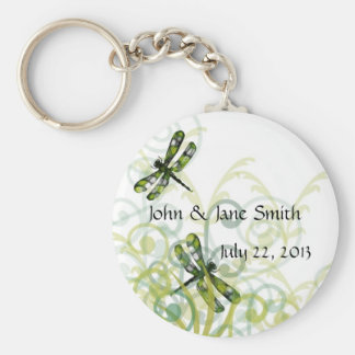 Porte-clés Libellules vertes épousant le porte - clé de