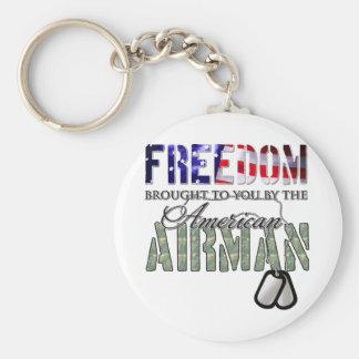 Porte-clés Liberté - apportée à vous par l'aviateur américain