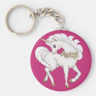 Porte-clés Licorne blanche