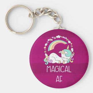 Porte-clés Licorne humoristique AF magique sur le motif rouge
