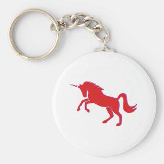 Porte-clés Licorne rouge