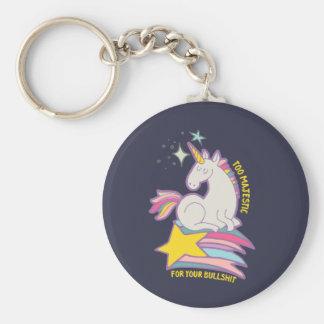 Porte-clés Licorne sarcastique drôle trop majestueuse pour