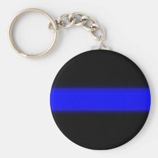 Porte-clés ligne bleue mince porte - clé