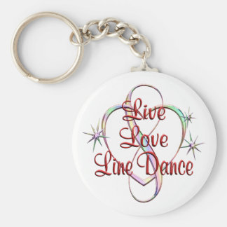 Porte-clés Ligne danse vivante d'amour