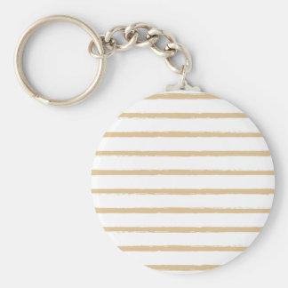 Porte-clés Lignes approximatives blanches beiges motif de