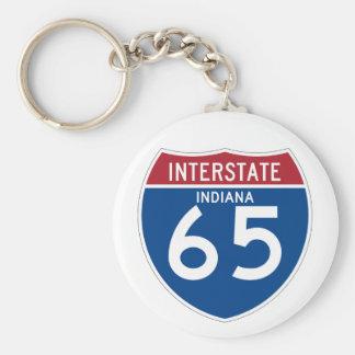 Porte-clés L'Indiana DANS le bouclier de l'autoroute