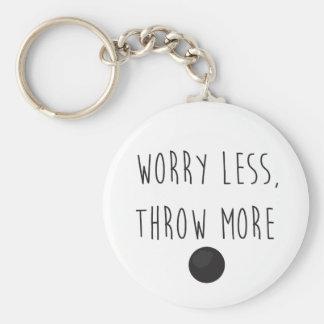Porte-clés L'inquiétude moins, jettent plus de porte - clé de
